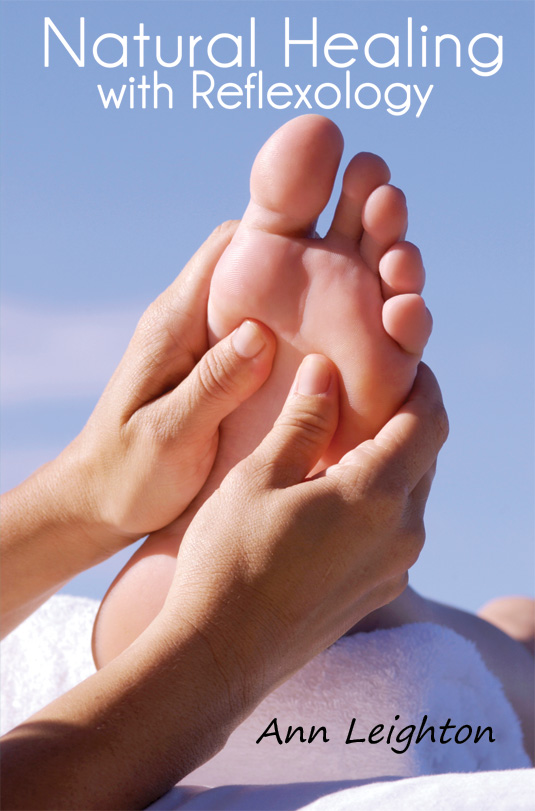 The cover of Natural Healing with Reflexology by Ann Leighton