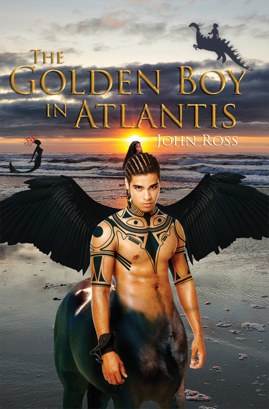 The cover of The Golden Boy in Atlantis by John Ross