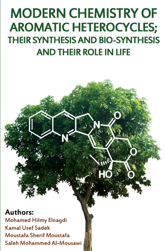 The cover of Modern Chemistry of Aromatic Heterocycles; Their Synthesis and Bio-Synthesis and their Role in Life