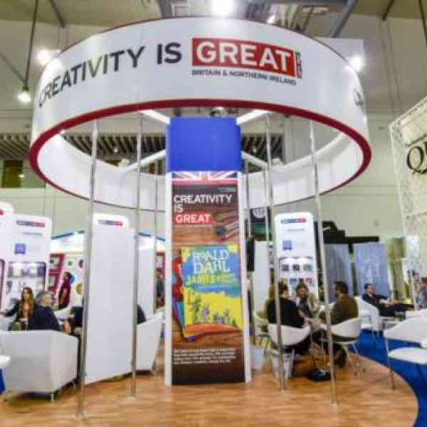 UK pavilion on the first day of Sharjah Book Fair 2017.     Image Credit: Ahmed Ramzan/ Gulf News