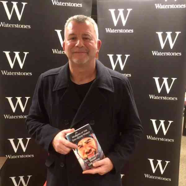 Con Curtis at book signing at Waterstones Leeds