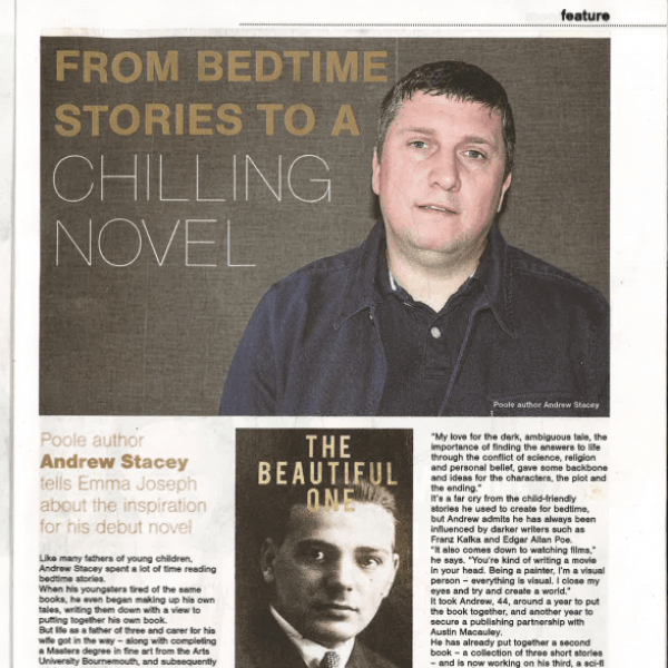 Bournemouth Evening Echo Features Contemporary Author, A. M. Stacey
