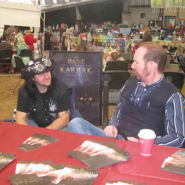 Author Robert J. Marsters at the Llangollen Faery Festival