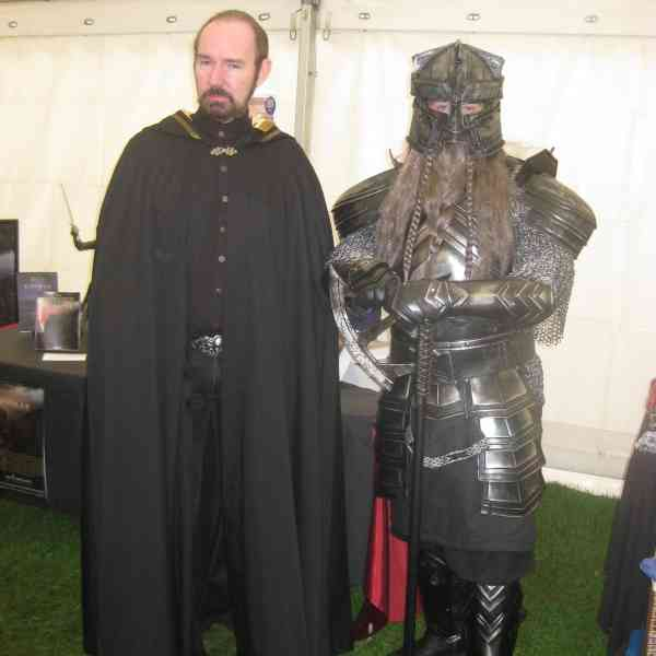 Robert Marsters alongside a Viking