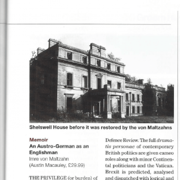 Imre von Maltzahn is Featured in Country Life Magazine