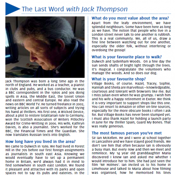 Jack Thompson Featured in SE21 Magazine