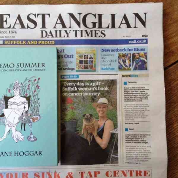 Jane Hoggar Features in the East Anglian Daily Times