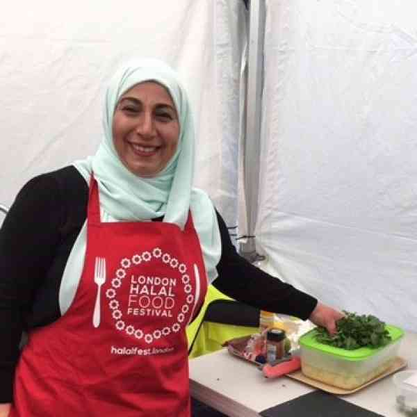 Lina Saad cooks live at London Halal Festival