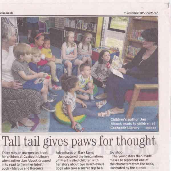 Jan Alcock Visits Coxheath Library
