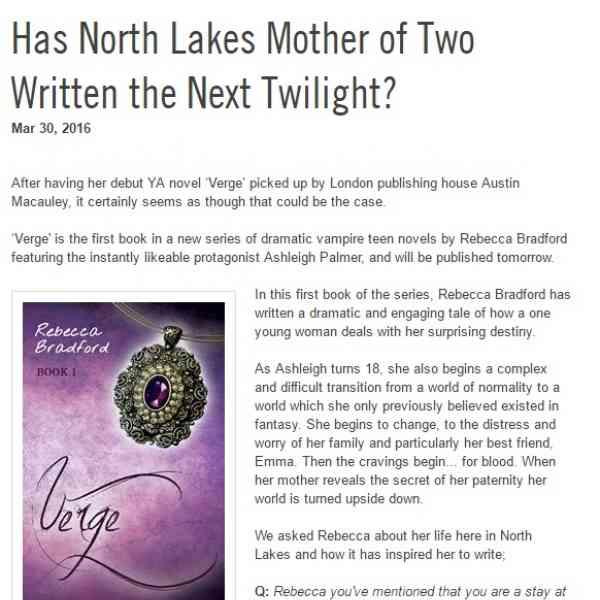 Has Rebecca Bradford written the Next Twilight?