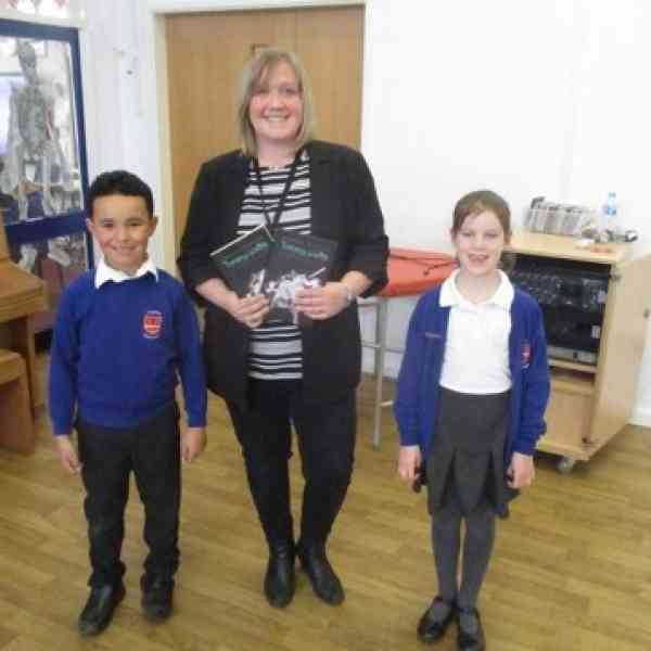 Rebecca Wigston at the Cogenhoe Primary School