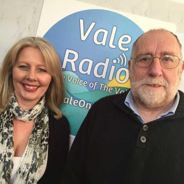 Kathleen Harryman and Vale Radio presenter