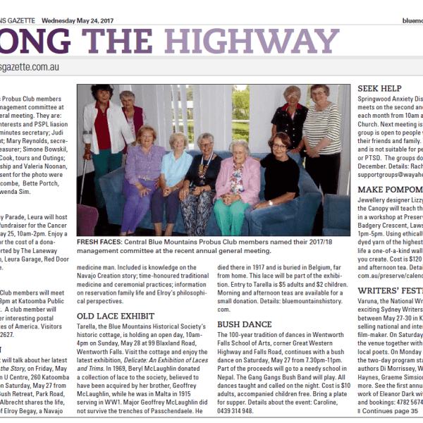 Valerie Albrecht featured in Blue Mountains Gazette