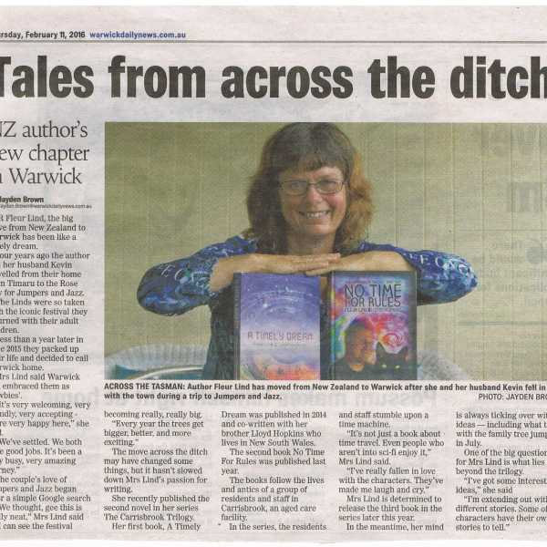 Fleur Lind is Featured in Warwick Daily News